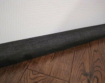 DOOR draft stopper cover, DENIM draft snake, draft dodger. Dark denim fabric.