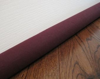 DRAFT guard extra long lengths, custom length door draft stopper, draft snake // burgundy canvas
