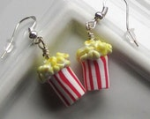 Popcorn Earrings - Food Jewelry