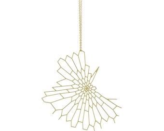Radiolaria Pendant (gold)