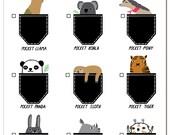 Birthday Card - Pocket Animals