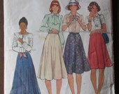 Butterick 4139, 1970s eight-gore flared skirt pattern