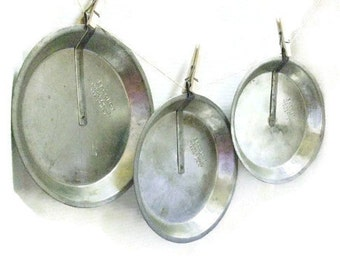 Three Vintage Ekcoloy Aluminum Slider Pie Pans