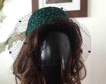 Green and Black Whittall and Shon Statement Hat