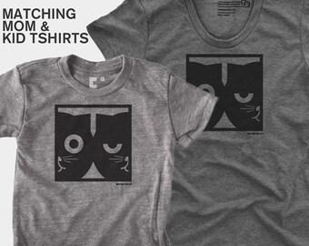 Dueling Watson the Cat - Matching Shirts (Women & Kid)