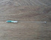 petite beaded bracelet in sterling silver   crystal quartz, amazonite and green aventurine beads   gift for her