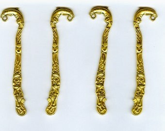 Set 4 80mm Small Gold Dolphin Bookmark Findings DIY