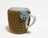 Teacher Gift  Crochet Coffee Cup Cozy Novelty Secret Santa Stocking Stuffer