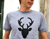New dad child shirts Mens- Tshirt Deer Buck Doe Antlers Reindeer Ugly Christmas Sweater Tacky Holiday Men dad gift grandpa hunter boyfriend