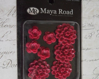 Maya Road: Resin Blossoms in Red