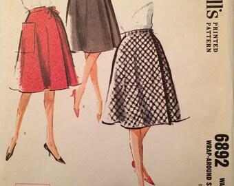1960's Wrap-Around Skirt -  McCall's 6892