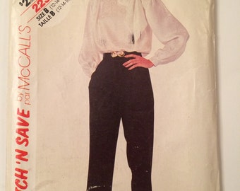Vintage Pattern for Blouse and Pants Stitch 'N Save McCall's Pattern 2237