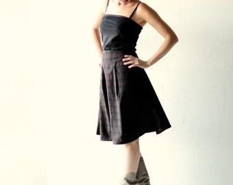 Wool skirt, women skirt, High waist skirt, Tartan skirt, winter skirt, red skirt, womens clothing, winter clothes, aline skirt, knee length