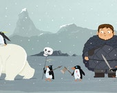 Zombie Penguins!!!.  Art print by J.Banh