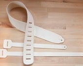 Leather Guitar Strap Kit - Personalize your guitar strap with your own art! - Vegetable tanned leather