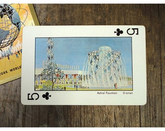 Playing Card - Astral Fountain - New York Worlds Fair 1964 - 1964 Rocket Age