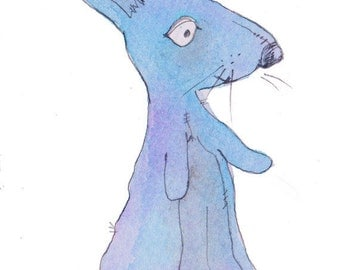 The Little Blue Rabbit - Print
