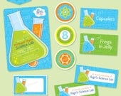 SCIENCE Party BASIC Package (Blue) - DIY Printable - Customised PDFs
