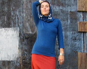 ORGANIC Chunky Cowl Shirt ( light hemp and organic cotton knit ) - organic shirt