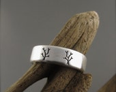 Tree Couple Sterling Silver Wedding Ring