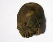 Rusted African Undead Shrunken Head Voodoo Zombie Head Bead