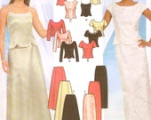 Grad Skirts tops purse or brides sewing pattern Simplicity 7219 Wedding party Bridesmaid Sz 6 to 12 UNCUT