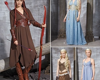 Simplicity 1347-Elf Costume Lord of the Rings Plus Size