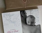 75 Photo Holiday Cards, Custom Letterpress, Soaring Dove