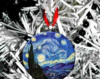 "Van Gogh Starry Night 2.25"" Ornament"