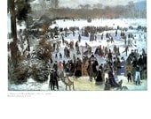 Skaters in the Bois de Boulogne - Pierre-Auguste Renoir -1985 Vintage Book Page - Fine Art Print - Reproduction Print - 11 x 9