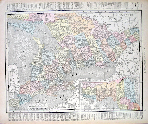 Items Similar To 1914 Antique Map