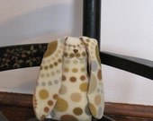 SALE Snuggle Bunny in fleece and satin - constellation dot