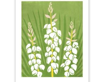 ART311: Yucca Block Print Art Reproduction