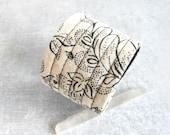 Boho Cuff Bracelet ~ Vintage Fabric Bracelet ~  Eco Friendly Modern Handmade Jewelry by Luluanne