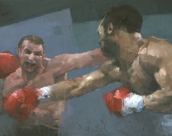 Endgame, Original Boxing Painting
