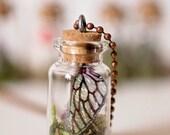 Fairy Wing Mini Terrarium Necklace