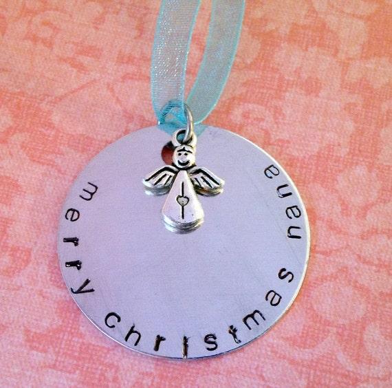 Personalized Merry Christmas Mom, Grandma, Nana, Sister Ornament