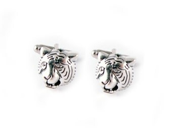 Tiger Cufflinks, Animal cufflinks, cufflinks for men, mens wedding jewelry, bride to groom gift, groom cufflinks