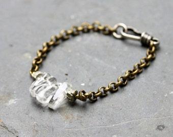April Birthstone Bracelet Quartz Beaded  Bracelet Bohemian Jewelry