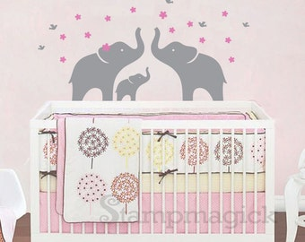Elephant Family Wall Decal - K118