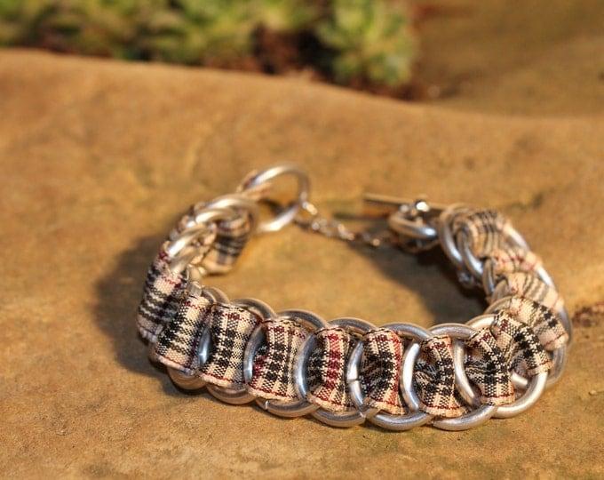 Blackberry Tartan Ribbonmaille Bracelet