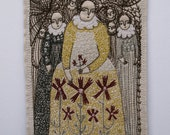 waiting for your stories - a larger embroidery original artwork