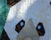 Panda in Bamboo Forest Baby Quilt