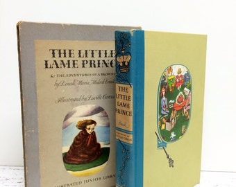 VINTAGE BOOK SALE, The Lame Little Prince, The Adventures of Brownie, Gift for Him, FairyTale Book, 1940s, Childrens Book, Vintage Nursery