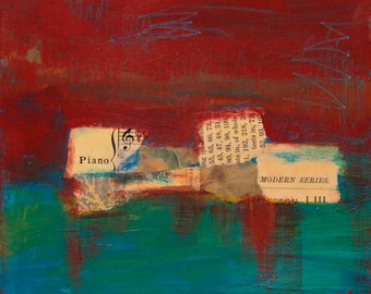 Piano Modern - Original Mixed Media Painting