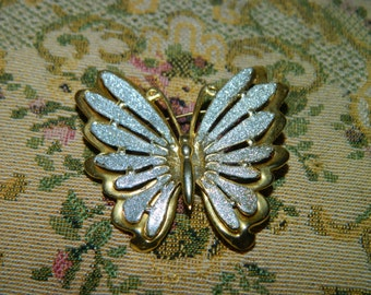 Vintage Butterfly Brooch, Pendant, Silver & Gold Butterfly Pin, Spring Time Butterfly Pin, Brooch, Butterfly Wings