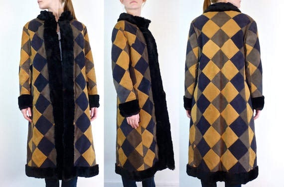 Suede Coat • 1970s Leather Jacket • Suede Leather Coat • Patchwork Coat • Boho Suede Coat • Suede Jacket • Leather Coat • Vintage Suede Coat