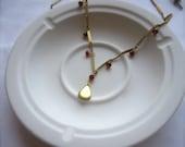 Tiny Secrets - Garnet Locket Necklace