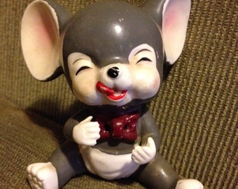 Adorable 1940s baby mouse figurine