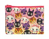 Anime Cats pouch | zipper pouch | make up bag | coin purse | pencil pouch